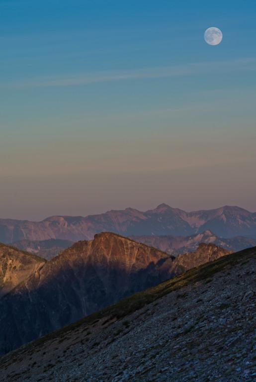 Moonrise at Sunrise Region
