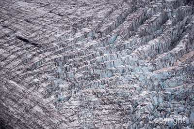Winthrop Glacier on slopes of Mount Rainier