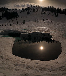 Tipsoo Lake moon reflection