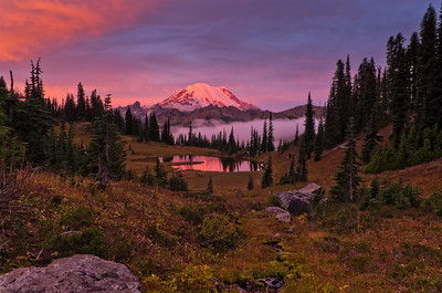Sunrise on Mount Rainier
