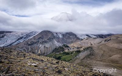 Mount Rainier through the Clouds