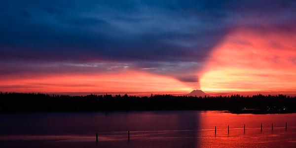 Mount Rainier - Sunrise with Mountain Shadow
