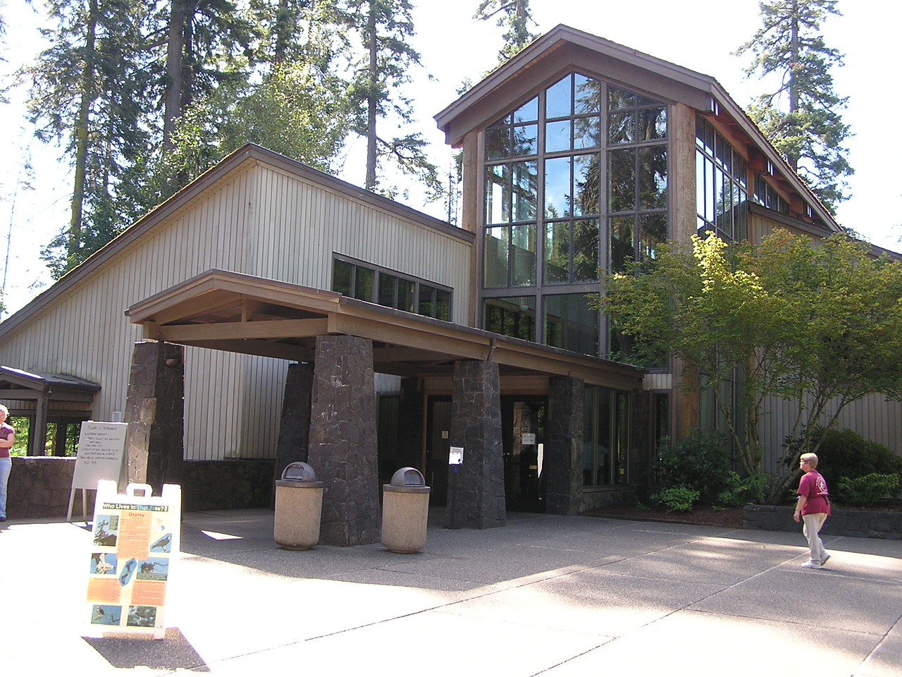 Mt St Helens Visitor Center at Seaquest State Park.