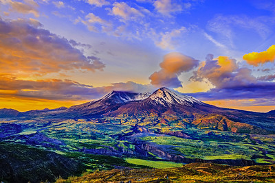 """Morning Elegance,"" Mount St Helens 35th Anniversary Sunrise, Mt St Helens National Volcanic Monument"