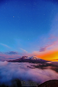 """Magic in the Clouds,"" 35th Anniversary Nautical Twilight Mt St Helens National Volcanic Monument"