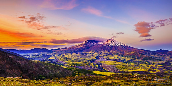 """A Mountain's Renewal,"" Mount St Helens Dawn, 35th Anniversary, Mt St Helens National Volcanic Monument, Washington"
