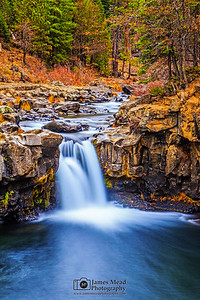 """Last Flow of Autumn,"" Lower McCloud Falls, McCloud River, Shasta-Trinity National Forest, California"