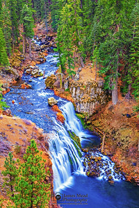 """Ariel Plunge,"" Middle McCloud Falls, McCloud River, Shasta-Trinity National Forest, California"
