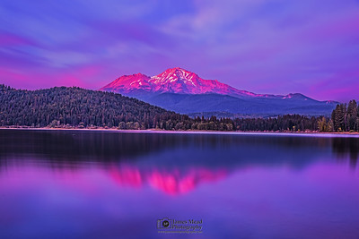 """As It Was,"" Alpenglow over Mount Shasta, California"
