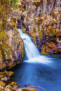 """Through the Cracks,"" Upper McCloud Falls, McCloud River, Shasta-Trinity National Forest, California"