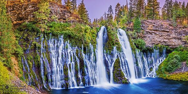"""Cliffside Curtain,"" Sunset over Burney Falls, McArthur-Burney Falls Memorial State Park, California"