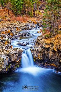 """Autumn Meander,"" Lower McCloud Falls, McCloud River, Shasta-Trinity National Forest, California"
