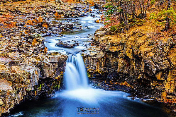 """""""Water's Whisper,"""" Lower McCloud Falls, McCloud River, Shasta-Trinity National Forest, California"""
