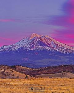 """Alpine Magic,"" Mount Shasta Alpenglow, California"