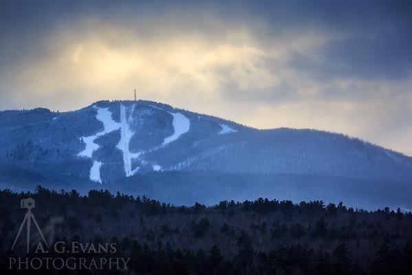 Mount Sunapee Ray of Light