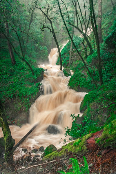 Long Exposure of High Water at Cataract Falls