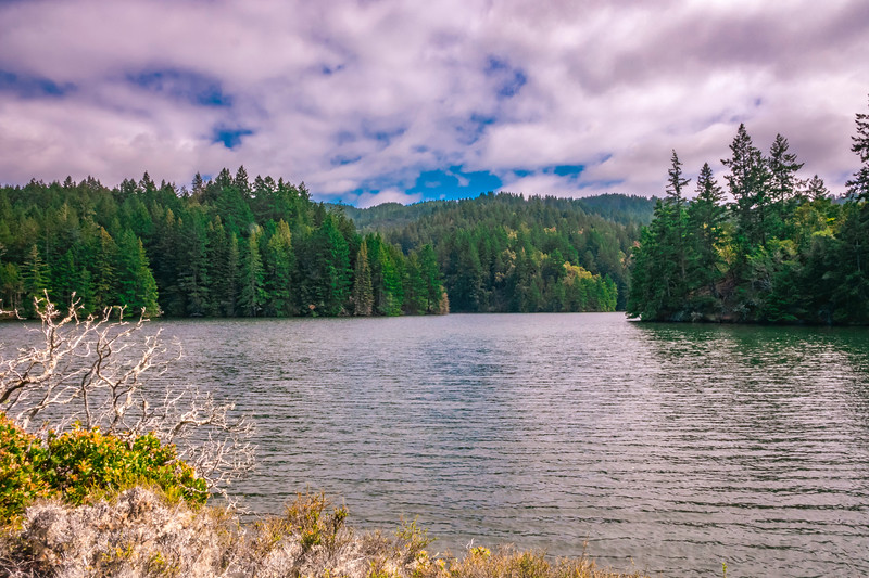 Alpine Lake with Mount Tam beyond