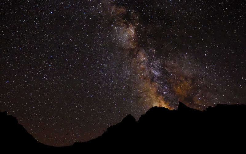 This is the Milky Way above Trail Camp on the Mount Whitney ascent in California. (© Erica Jacques 2016)