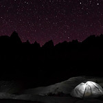 The stars are shining brightly over Mount Whitney and Trail Camp in California. (© Erica Jacques 2016)