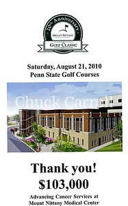 20th Anniversary Mount NIttany Medical Center Golf Classic  - State College Pennsylvania