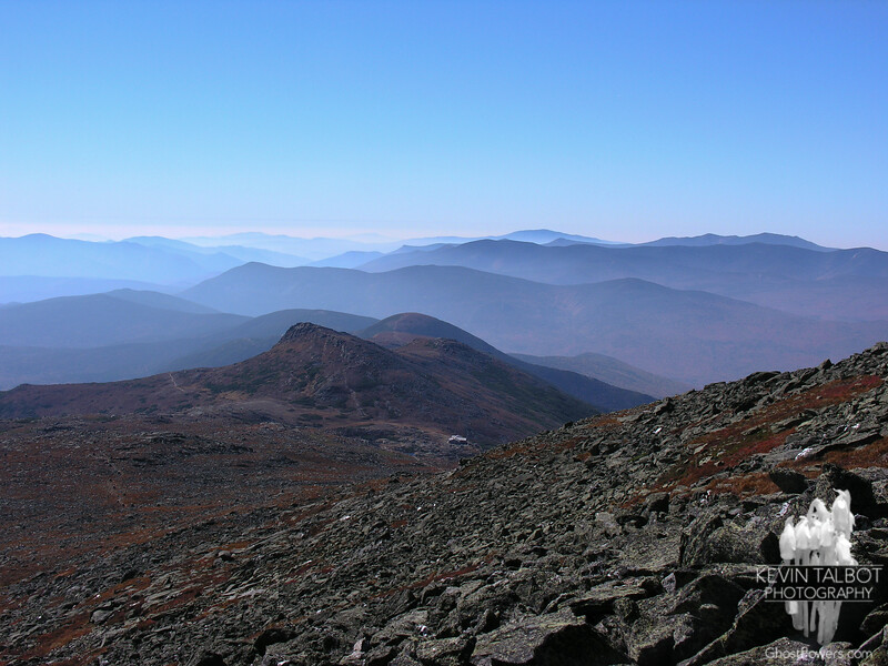 The Lakes of the Clouds along with their namesake AMC Hut lie below Mount Monroe to the southwest.