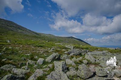North across the Alpine Garden to Nelson Crag.