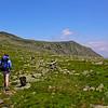 Hiking north towards Nelson Crag on the Alpine Garden Trail.