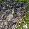 Falling water in Tuckerman Ravine as seen from Lion Head.