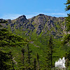View up to Boott Spur from the Tuckerman Ravine Trail.