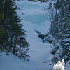 The ice bulge along the Ammonoosuc Ravine Trail.