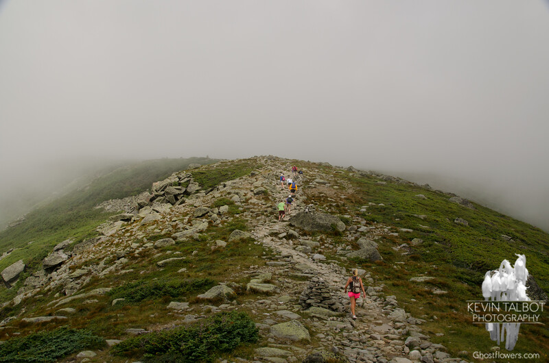 Lion Head Trail into the clouds.