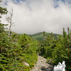 A look up to Lion Head from the Tuckerman Ravine Trail.