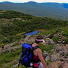 Above Red Pond on the descent from Mount Eisenhower.