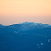 Mount Lafayette zoom at sunset
