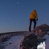 Mark climbs to the moon.
