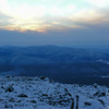 Sunset over Franconia Ridge.