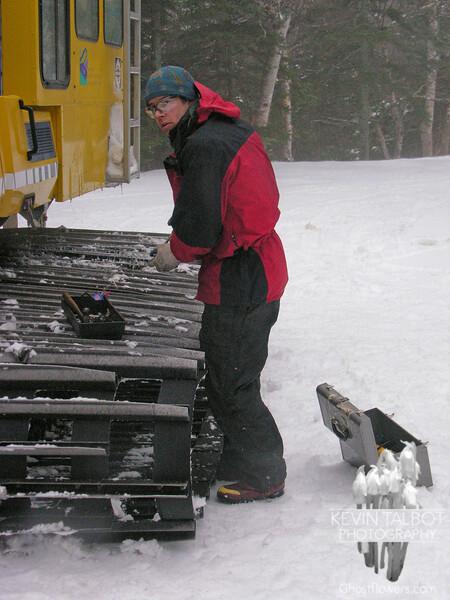 Wayne makes a quick repair.