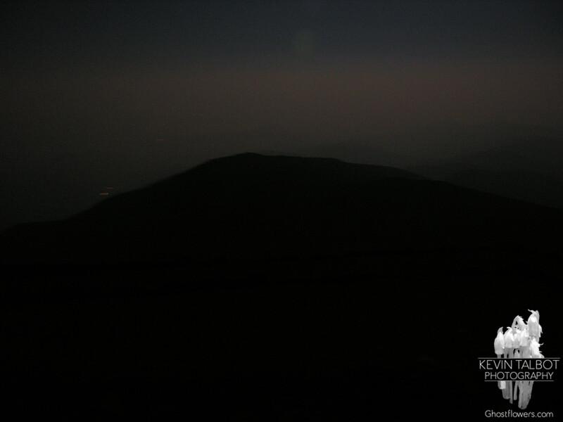 Boott Spur and moonlit mist.