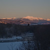 Thursday 1/19/12 Today's destination, Mount Washington, rises above the Saco River.