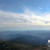 The view south along Montalban Ridge to Mounts Passaconaway and Whiteface on the horizon.