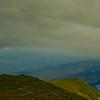 Clouds darken Ball Crag as Nelson Crag stays sunlit.