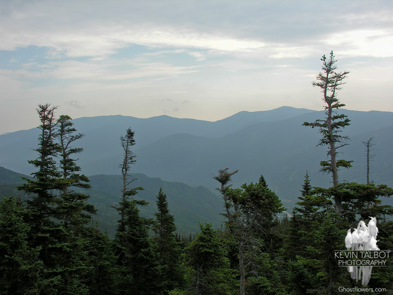 Hazy view east to the Carter Range.