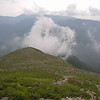 Clouds form to the east as we climb above treeline horizontal.
