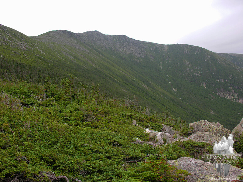 View up to Boott Spur from Harvard Rock.