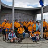 Kilted Hikers and friends of Brad's. (Judy and I didn't have time to get our orange shirts on!)