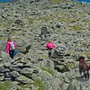 Three little girls on Mount Washington.