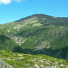 Across Tuckerman Ravine to the summit cone.