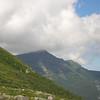 Clouds caress Mount Adams.