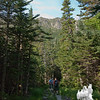 Looking up to Boott Spur from the Tuckerman Ravine Trail.