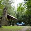 The shelter at Moosebrook State Park.